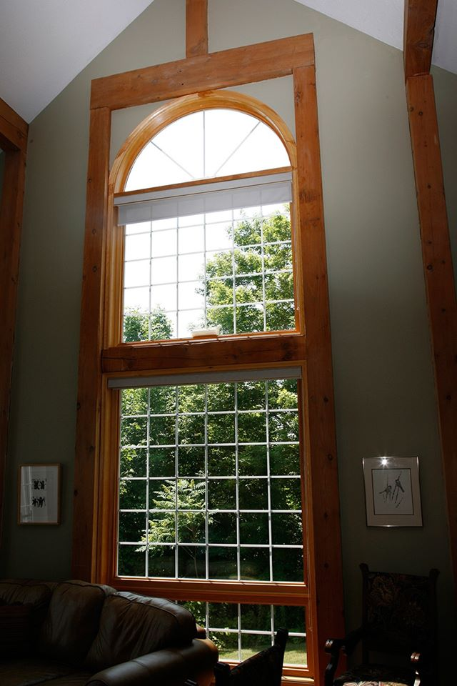 large floor to ceiling window