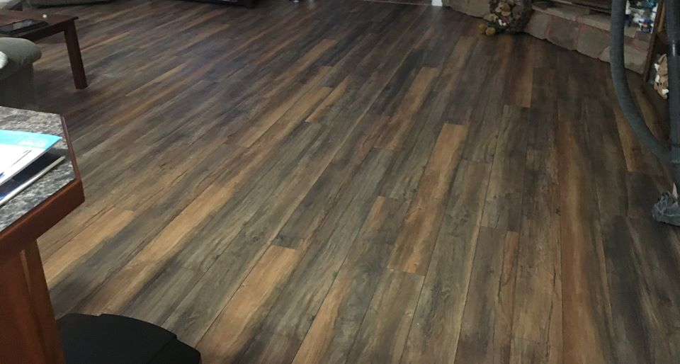 brown hardwood flooring